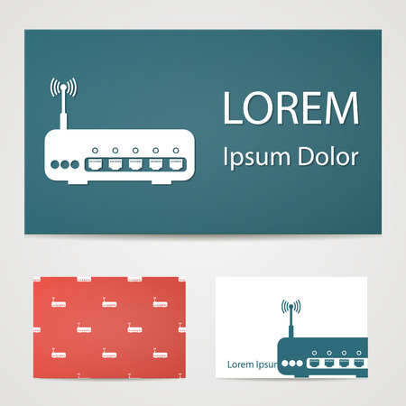 illustration of modern b lack icon router