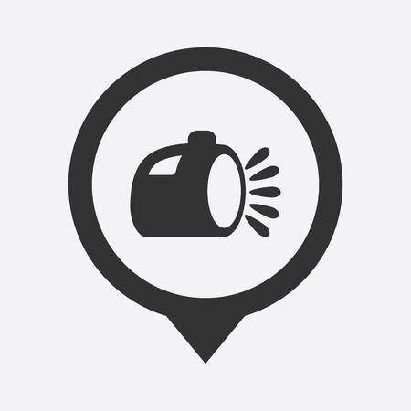lay off:  illustration of modern b lack icon lantern