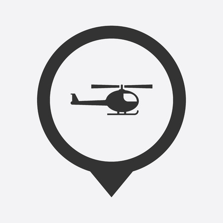 illustration of modern b lack icon helicopter