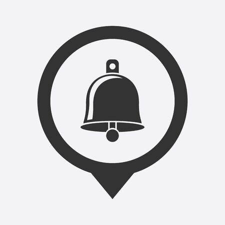 lack:  illustration of modern b lack icon bell