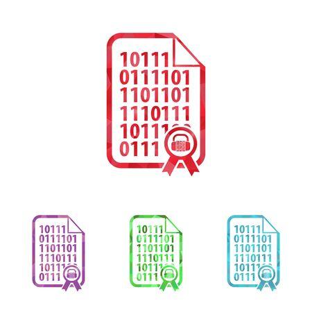 illustration of modern b lack icon program code