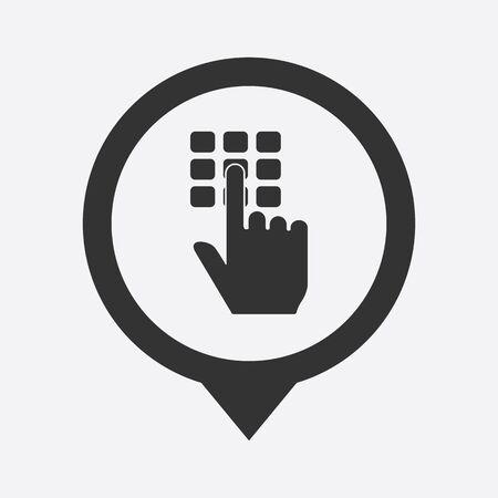 signaling: illustration of modern b lack icon signaling Illustration