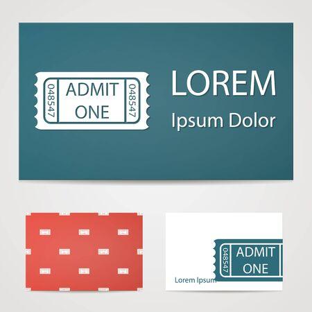 illustration of modern icon movie ticket