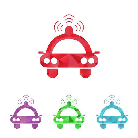 highway patrol: illustration of modern b lack icon spotlight