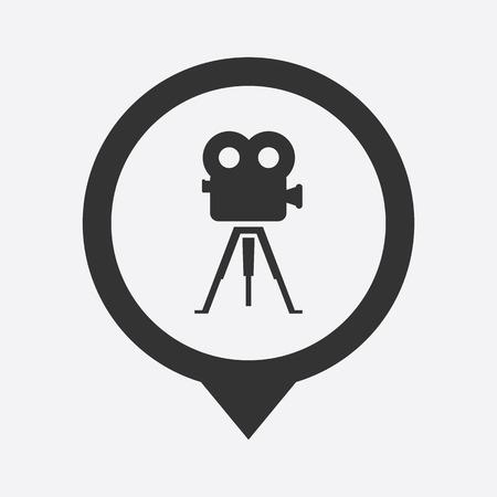 lack: illustration of modern b lack icon camcorder