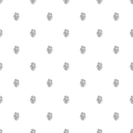 fingermark: illustration of modern b lack icon fingerprint