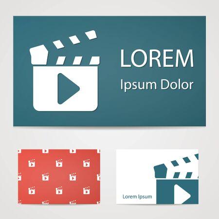 slate film: illustration of modern b lack icon clapper board