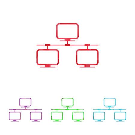 transmitting: vector illustration of modern b lack icon network