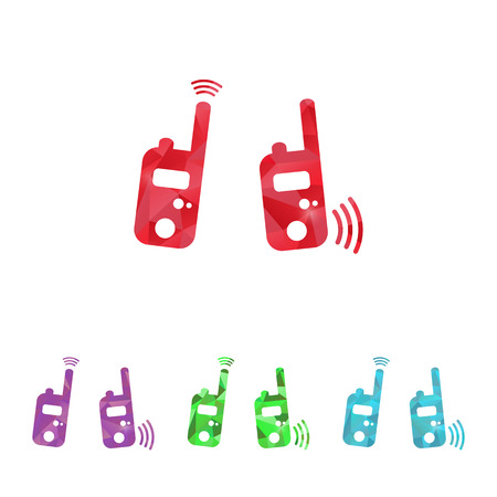 portability: vector illustration of modern b lack radio