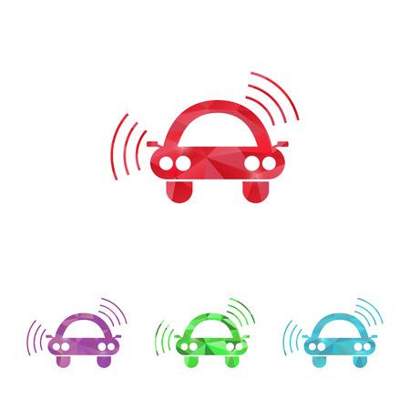 signaling: vector illustration of modern b lack icon signaling