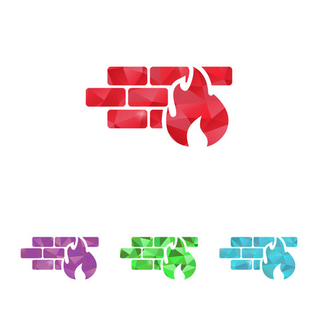 embers: vector illustration of modern b lack icon fire wall Illustration