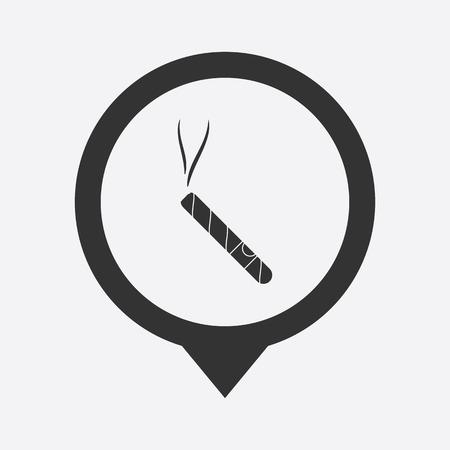 cigar: vector illustration of modern silhouette icon cigar Illustration