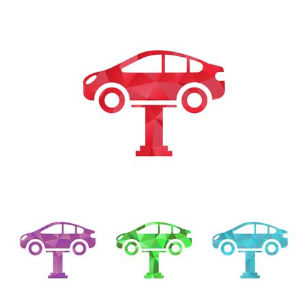 car breakdown: Vector illustration of modern auto repair icon