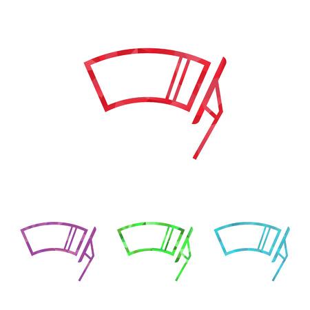 windscreen: Vector illustration of modern auto repair icon