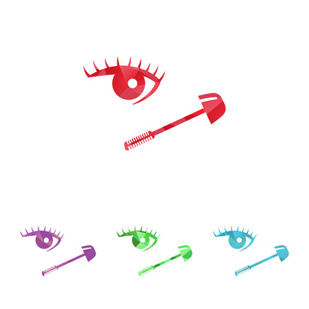 eyelid: Vector illustration of beauty and fashion icons