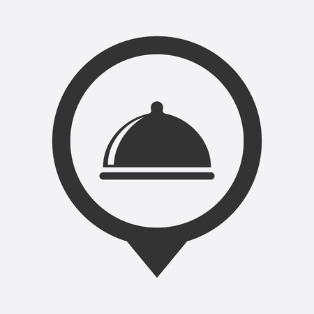 lunch tray: Vector illustration of food icon