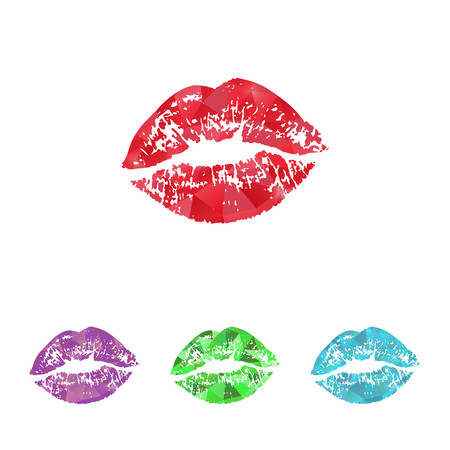 sex symbol: Vector illustration of beauty and fashion icons