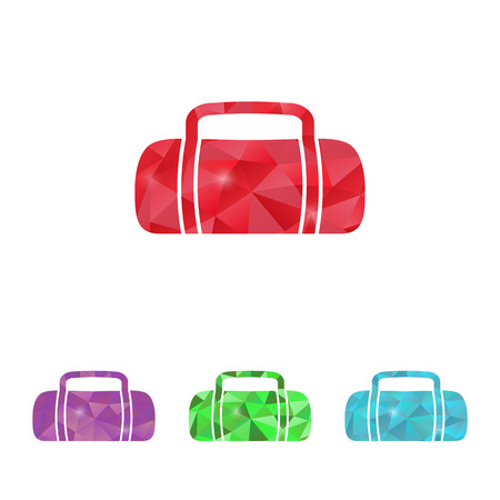 duffel: vector illustration of business and finance icon bag Illustration