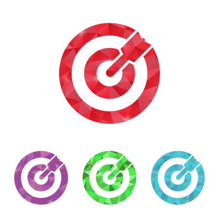 vector illustration of business and finance icon target