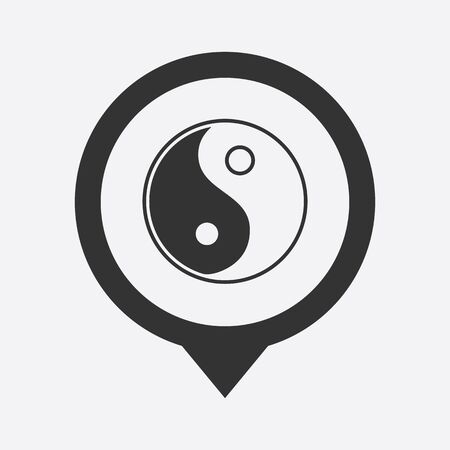 contrasts: vector illustration of business and finance icon yin yang