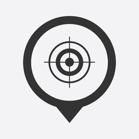 marketing target: vector illustration of business and finance icon target