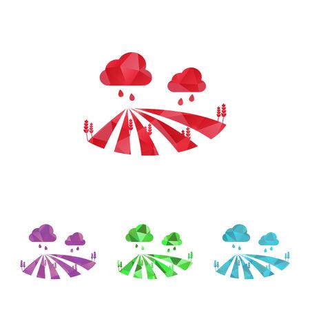 agrario: Ilustraci�n vectorial de la moderna icono de la granja Vectores