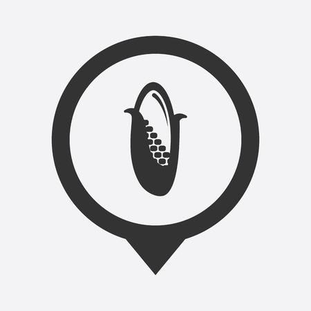 sweetcorn: Vector illustration of modern farm icon