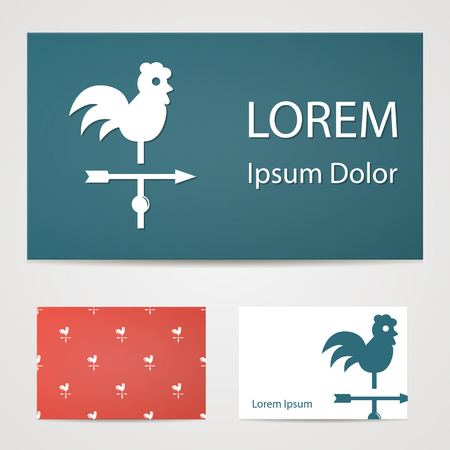 rooster weather vane: Vector illustration of modern farm icon