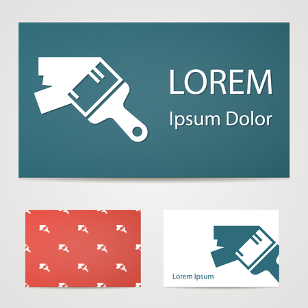 paint drop: illustration of vector building modern icon in design Illustration