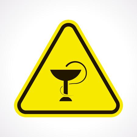 health symbols metaphors: vector illustration of modern b lack icon medical bowls