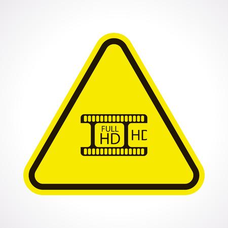 photo slide: vector illustration of modern b lack icon frame cinema