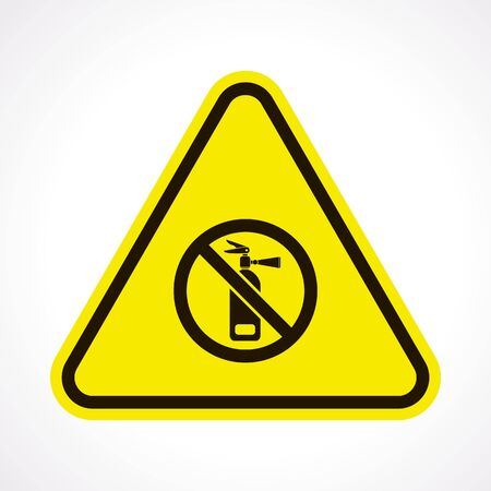 foam safe: vector illustration of modern b lack icon fire extinguisher Illustration