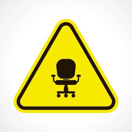 ergonomic: illustration of vector office modern icon in design
