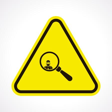 robberies: vector illustration of modern b lack icon thief Illustration