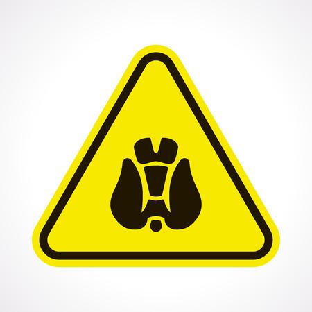 thyroid: vector illustration of modern b lack icon thyroid Illustration