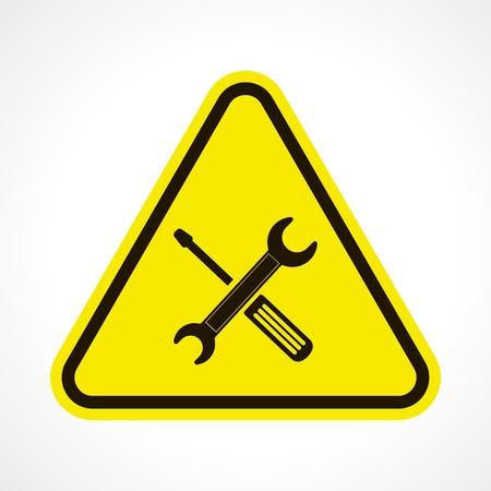 herramientas de trabajo: ilustración vectorial de la reparación de los negocios y finanzas icono Vectores
