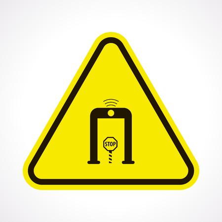 depart: vector illustration of modern b lack icon detector Illustration
