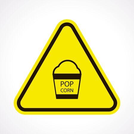 corn flakes: vector illustration of modern icon pop corn Illustration
