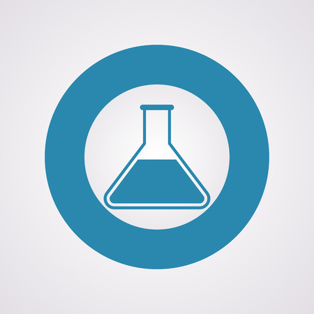 medical laboratory: vector illustration of modern b lack icon test-tube Illustration