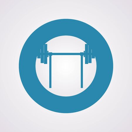 barbell: vector illustration of modern silhouette icon barbell