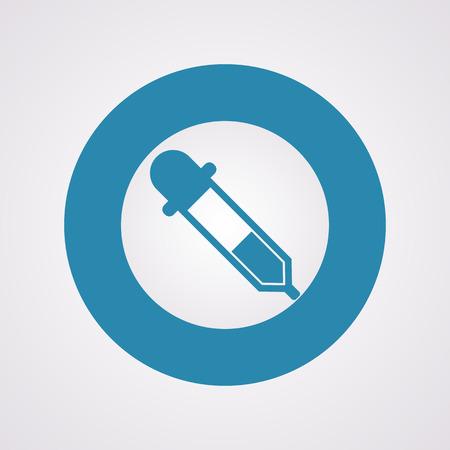 clinical laboratory: vector illustration of modern b lack icon pipette