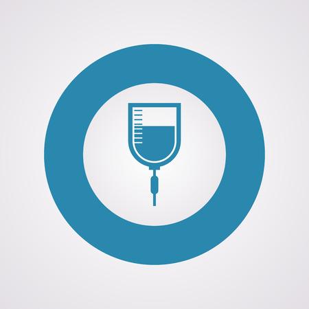 flue: vector illustration of modern b lack icon syringe