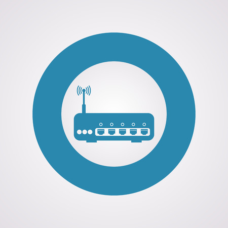 network router: vector illustration of modern b lack icon router