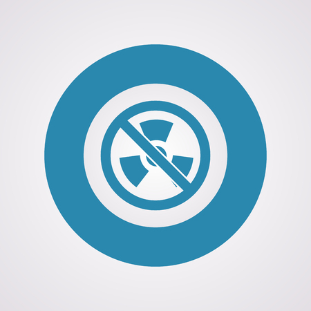 contaminated: vector illustration of modern b lack icon radiation