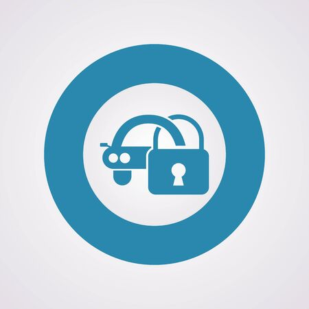 locksmith: vector illustration of modern b lack icon signaling