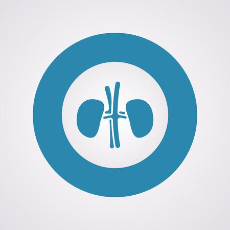 vitals: vector illustration of modern b lack icon kidneys