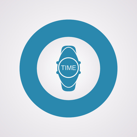 wristwatch: vector illustration of modern silhouette icon wristwatch