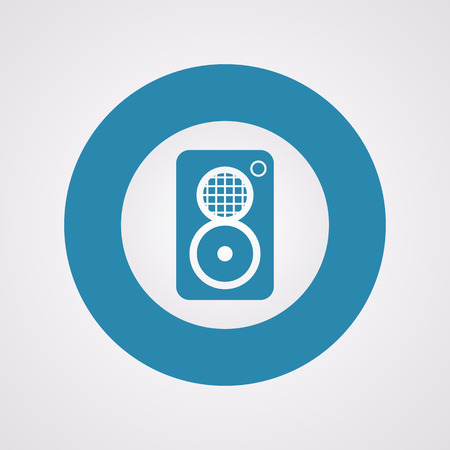 loudly: vector illustration of modern b lack icon subwoofer