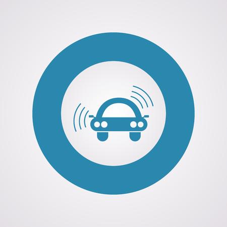 sell car: vector illustration of modern b lack icon signaling
