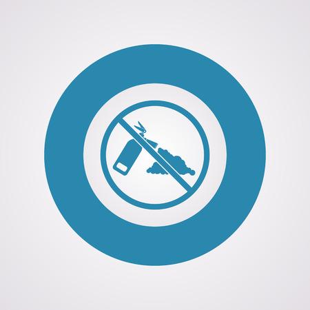 flammability: vector illustration of modern b lack icon fire extinguisher Illustration